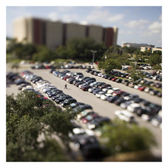 Parking Lot (ethics_gradient) Tags: tampa florida bokeh sony 20mm nikkor usf f28 ts tiltshift universityofsouthflorida nex3 sonynex3