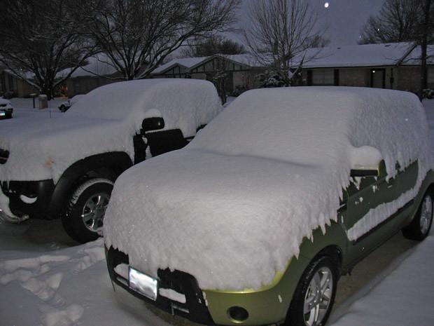 cars snow
