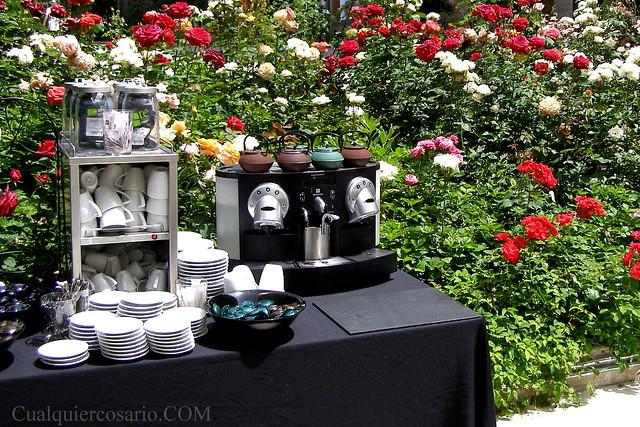 Café con flores