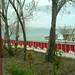 View of Akdamar Island on Lake Van from restaurant