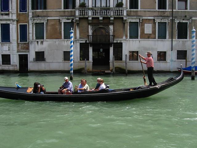 ヴェネツィアのゴンドラのフリー写真素材