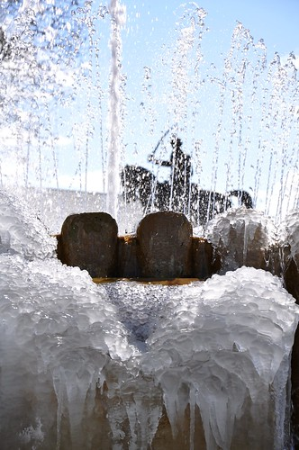 Juan Seguin & frozen fountain