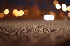 February Seventh. (redaleka) Tags: road street light night focus dof bokeh barrier asphalt threehundredsixty februaryseventh