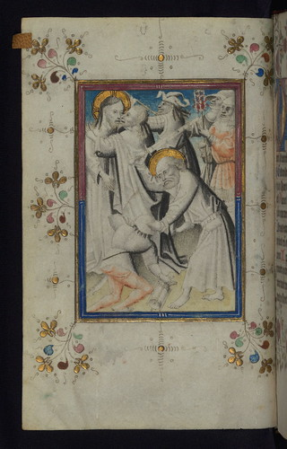 Illuminated Manuscript, Book of Hours, The Arrest of Christ, Walters Art Museum Ms. W.165, fol. 13v by Walters Art Museum Illuminated Manuscripts