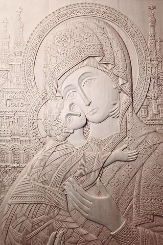 Ikone «Muttergottes von Wladimir» (Ausschnitt) von Inessa und Raschid Asbuchanow
