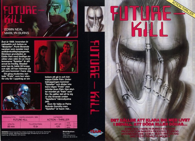Future Kill (VHS Box Art)
