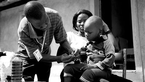 Doctor malaria test