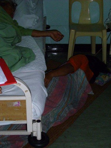2. Carers sleeping on the floor