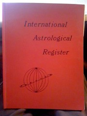 International Astrological Register-1974-5 Edition by Vance, Charles & Vance, Clyde, Vance, Charles & Vance, Clyde