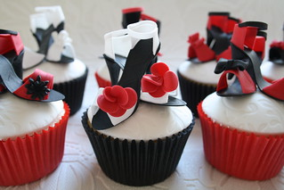 Mini shoe cupcakes by Cotton and Crumbs