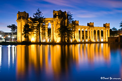 Palace of Fine Art twilight water reflection long exposure study (davidyu