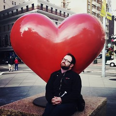 """To The Love of My Life"" (Sion+Anton) Tags: portrait sculpture love square beard san francisco heart union tony bennett sion 500x500 iphone4 iphoneography antonkawasaki gaybeardedmale"