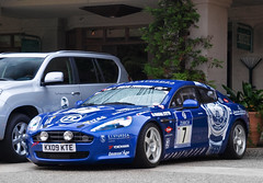 Aston Martin Rapide Racecar (GHG Photography) Tags: california uk blue cars car race racecar speed power fast automotive racing illegal pebblebeach british expensive rare astonmartin 007 jamesbond 24hrs nurburgring rapide ghgphotography