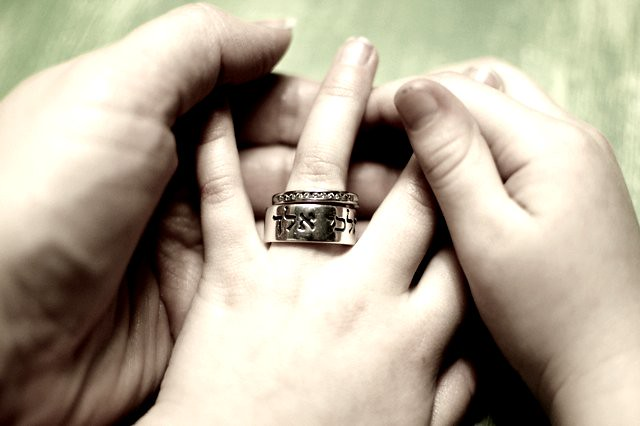 wedding ring : on my daughter