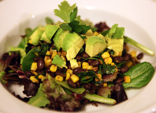 Corn Bean Avacado Salad