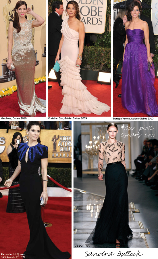 Sandra Bullock, Oscars Red Carpet, Jason Wu, 2011