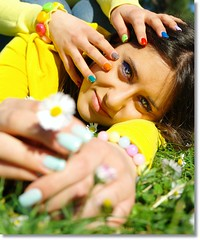 wake up in a colorful world (Ev@ ;-)) Tags: portrait spring eyes hands colours giorgia nails samsungdigitalcamera samsungnx10 colorannomaggio colorannoluglio