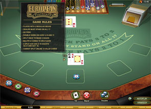 Multi-Hand European Blackjack Gold Rules