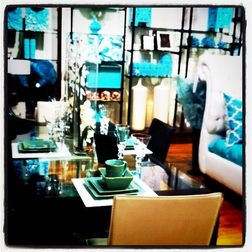 "Squeeeeee I loved this entire ""turquoise"" room at Z Gallery today."