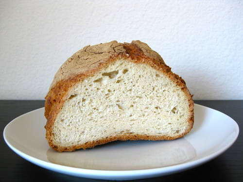 no-knead bread — a peek inside