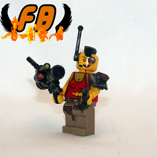 Custom minifig Post-Apoc Babe with BrickArms 1