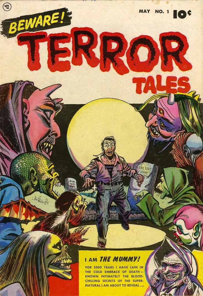 Beware Terror Tales #1 Bernard Bailey Cover (Fawcett, 1952)