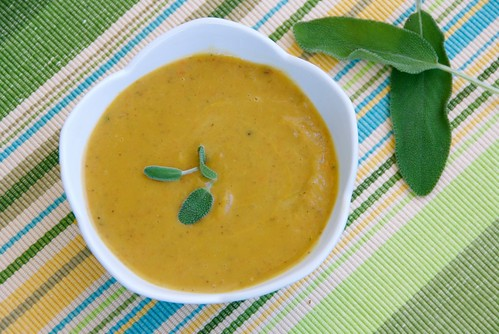 velvety butternut squash and chestnut soup