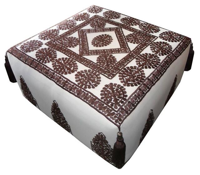 Moroccan square ottoman $825