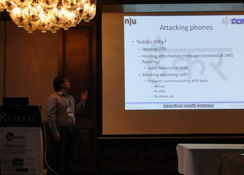 Mikel Gastesi explaining attacks via Cell phones