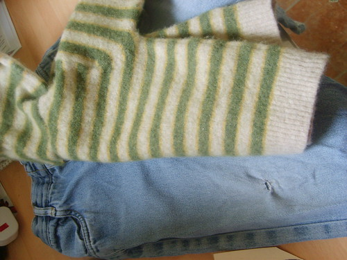 Project Restyle - Accidentally Felted Jumper and a Pair of Holey Jeans