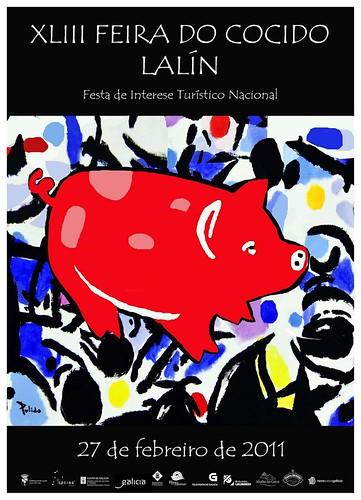 Feira do Cocido de Lalín 2011 - cartel de Antón Pulido