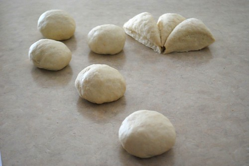 rolled up balls of dough