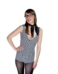 barbie romper1 (Wear The Canvas) Tags: white black classic vintage 60s stripes barbie 80s 70s striped 90s leotard romper