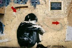 Jef Aerosol (dprezat) Tags: street urban paris art collage painting stencil tag graf peinture aerosol bombe pochoir jefaerosol sittingkid sonyalpha700
