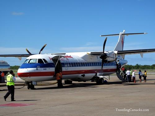 Our Plane to San Juan, Puerto Rico