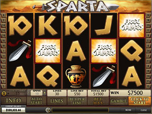 free Sparta slot scatters