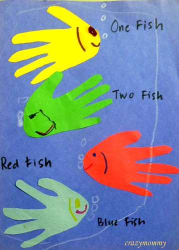 Dr Seuss' One Fish, Two Fish, Red Fish, Blue Fish craft