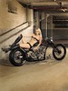 The Bullet Bobber (Marius Mellebye / 276ccm) Tags: leather model chopper rust ss engineering babe harleydavidson motorcycle redneck custompaint bobber mariusmellebye customshow soloseat 276ccm bulletbobber