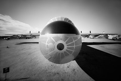 Peacemaker... (integrity_of_light) Tags: arizona bw film tucson aircraft nuclear pinhole 4x5 peacemaker bomber coldwar b36 pimaairmuseum mattabelson abelsonscopeworks