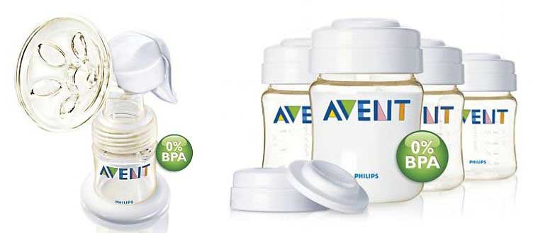 Used Avent Manual Breast Pump plus Set of 4 New in Box Storage Bottles Plus 6 Gently Used Storage Bottles! - AR$150