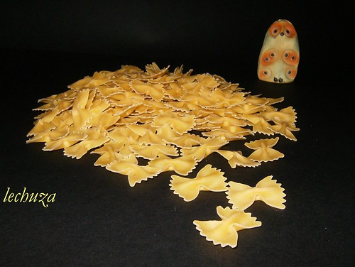 Costilla guisada-pasta mariposa