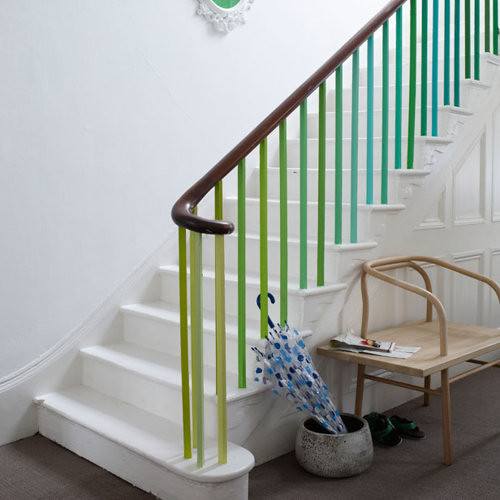 Green Stair Banisters