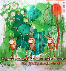 Art Journal - Triple Carrot (thekathrynwheel) Tags: sketchbook artjournal journaling stampotique dylusions