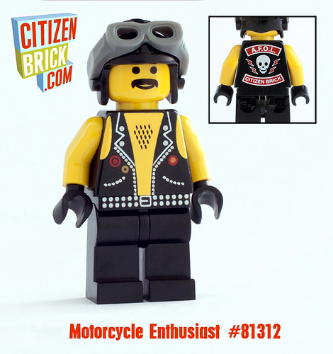 Custom minifig Motorcycle Enthusiast custom minifigure