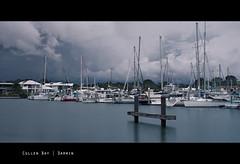 Cullen Bay Marina (Louise Denton) Tags: ocean longexposure blue light sea storm water clouds marina boats still harbour yacht shoreline australia darwin hdr ndfilter cullenbay canon450d