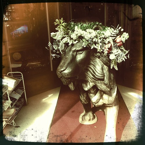 Lion With Garland