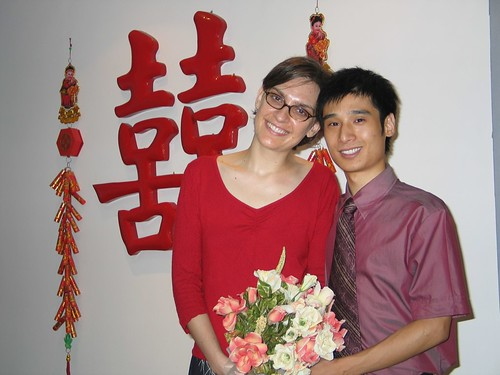 John my Chinese husband and I after registering our marriage in China
