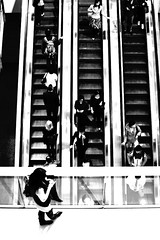 Once (jason_cykwong) Tags: china people hongkong escalator wait  ifc