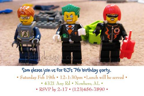 3-7 Lego invite