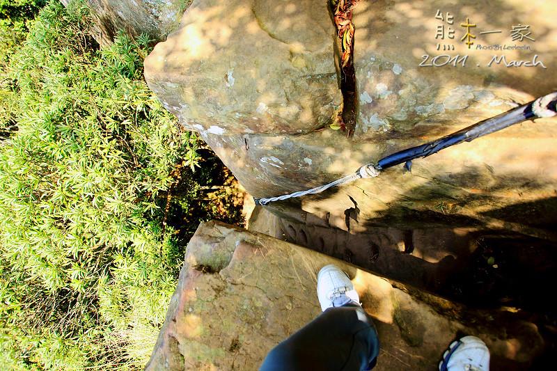 三峽五寮尖 傳說中的猴精 五層樓高垂直峭壁山脊線 桂林山水
